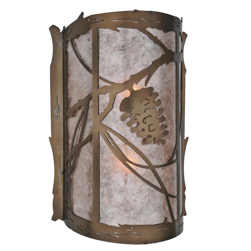 Illumine 2 Light Wall Sconce Mica Glass Antique Copper Finish
