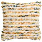 Thin Apricot Blend Striped Down Alternative 20 in. x 20 in. Throw Pillow