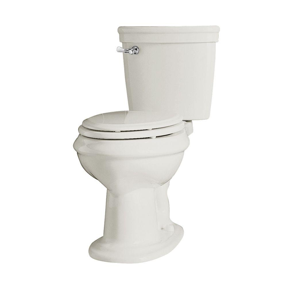 American Standard Collection Right Height 2-piece 1.6 GPF Elongated Toilet in White