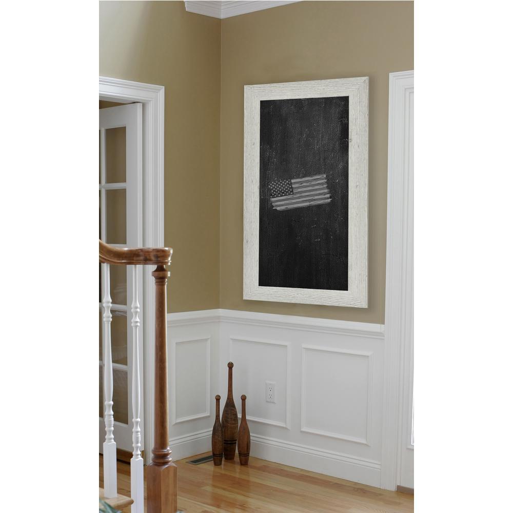 78 in. x 18 in. White Washed Antique Blackboard/Chalkboard