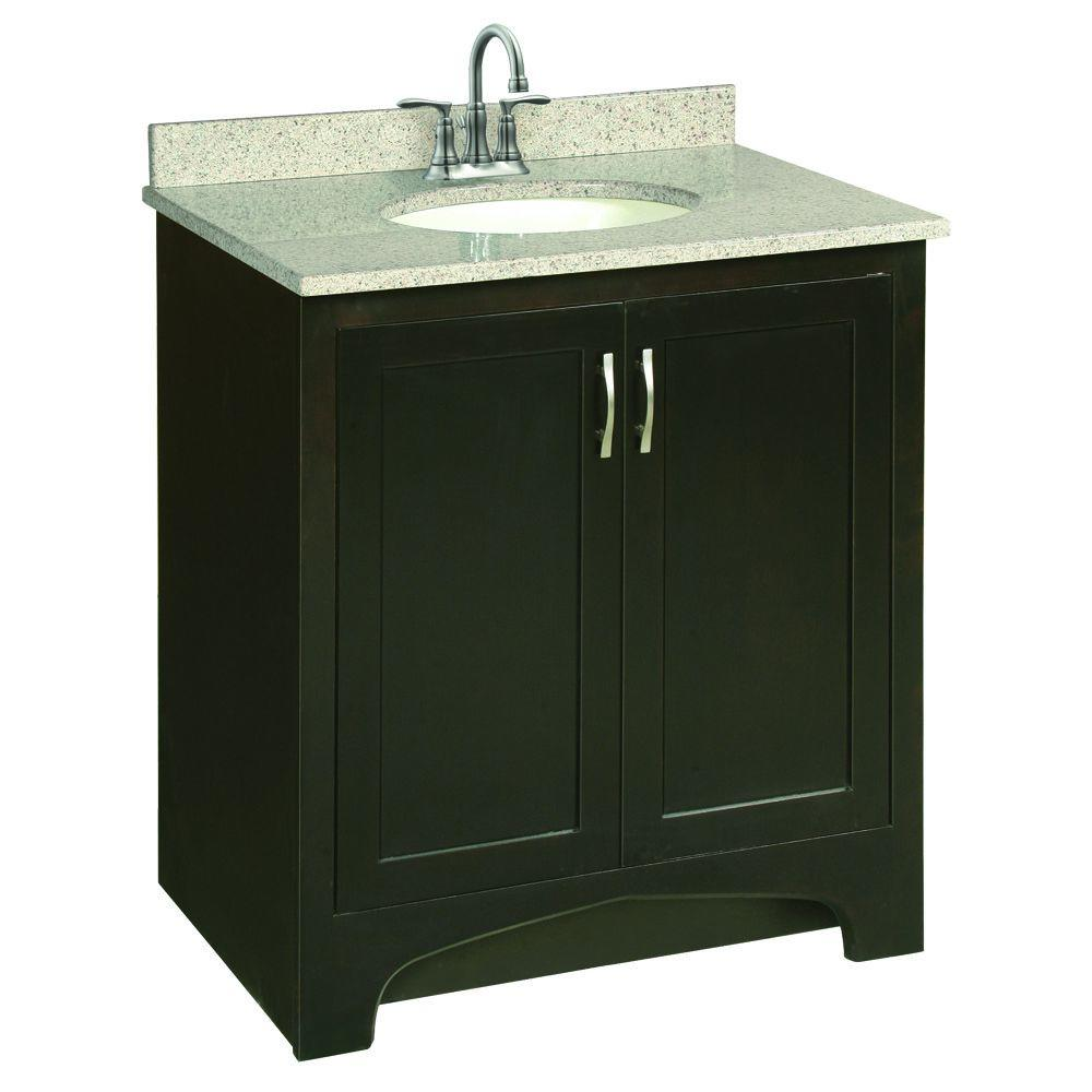 Glacier bay hampton 30 in w x 21 in d x 33 5 in h bath - Unassembled bathroom vanity cabinets ...