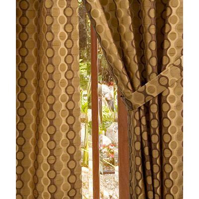 Home Decorators Collection Semi-Opaque Chocolate Rockafeller Rod Pocket Panel- in. W x 84 in. L