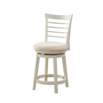 Harbour 43 in. Tall White Counter Stool