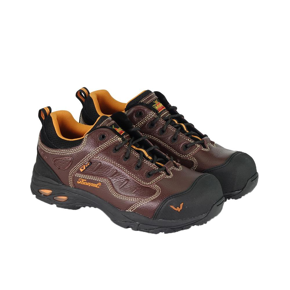 f21a08002c6df Thorogood Sport Oxford ASR Men's Size 8.5 Wide (C) Brown Leather Static  Dissipative Composite Safety Toe Work Shoes