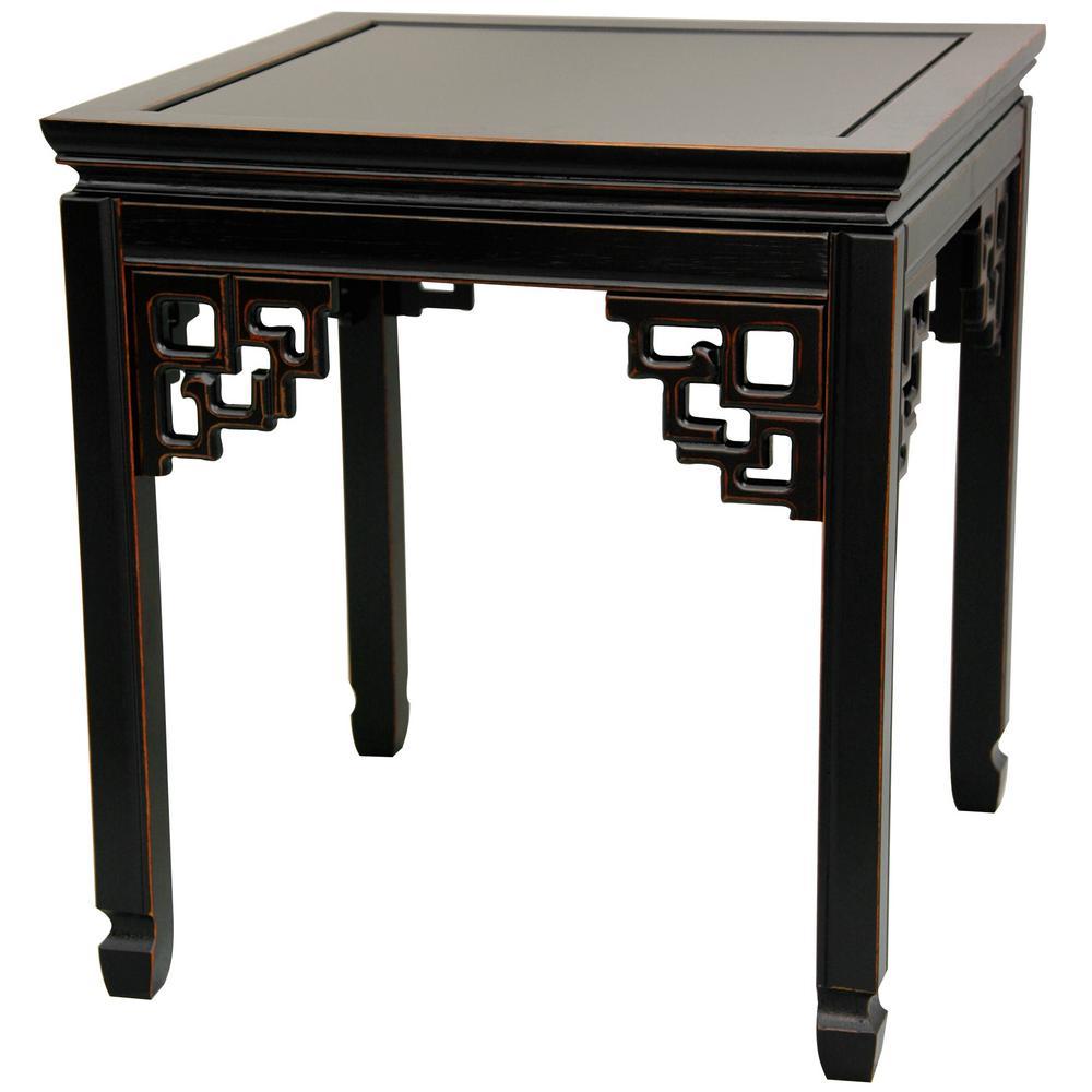 Square Ming Black End Table