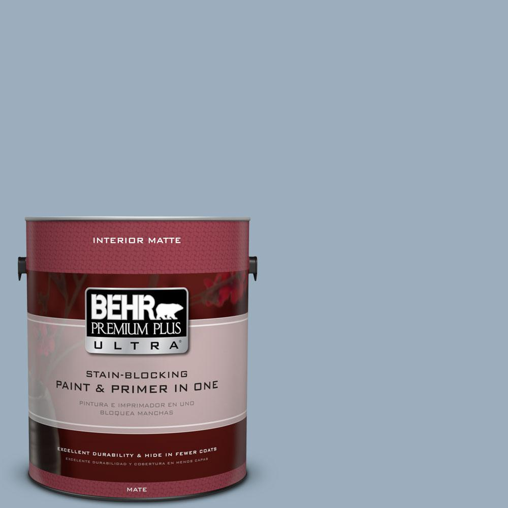 1 gal. #560F-4 Russian Blue Flat/Matte Interior Paint