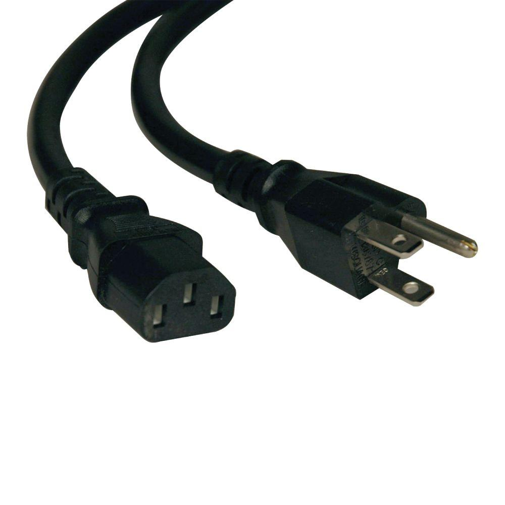 Tripp Lite 6-ft. 15-Amp 125-Volt C13/5-15P 14Awg SJT AC Power Cord ...