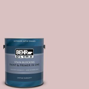 Behr Ultra 1 Gal Ppu17 08 Peony Blush Extra Durable Satin Enamel Interior Paint Primer 775001 The Home Depot