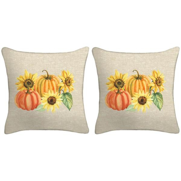 18 in. x 18 in. x 5 in. Harvest Toss Pillows (Set of 2)
