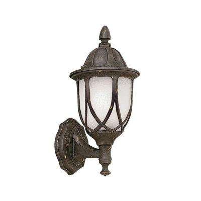 Greenwood Collection Autumn Gold Outdoor Wall-Mount Lantern