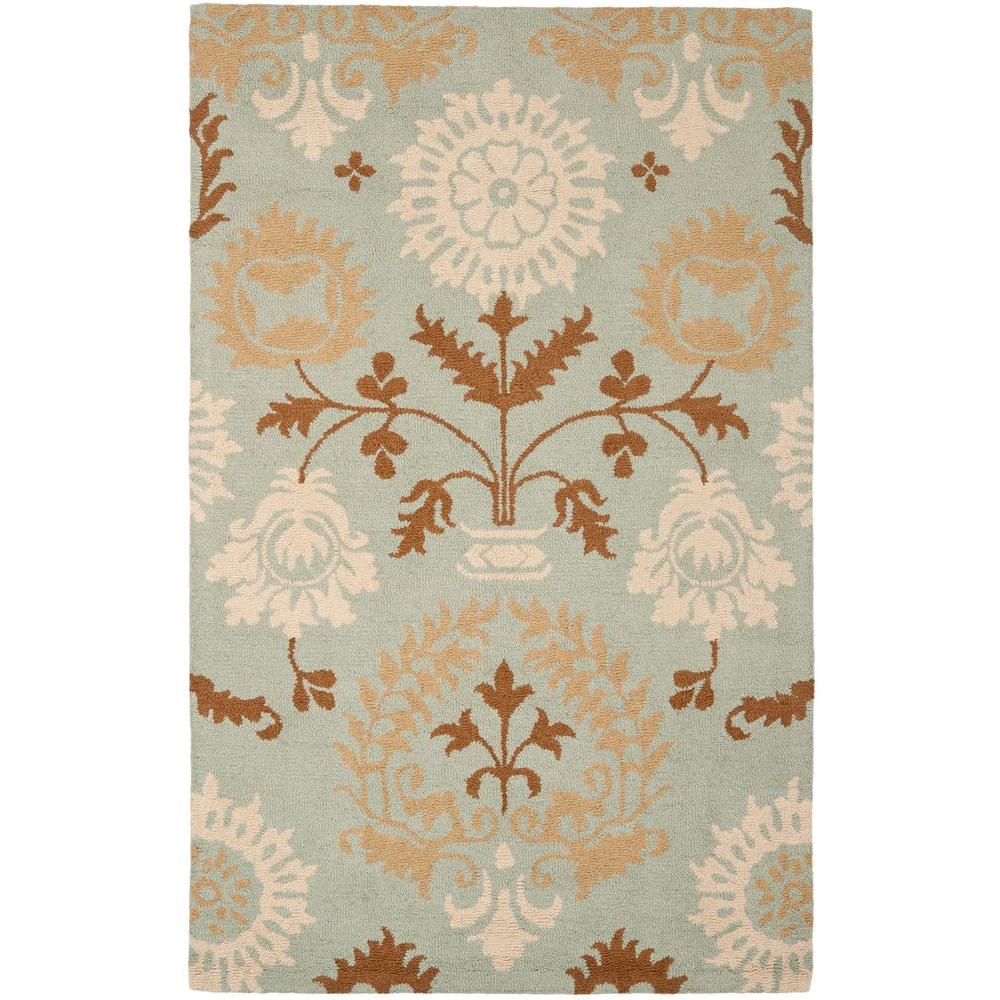 Blossom Blue/Multi 5 ft. x 8 ft. Area Rug