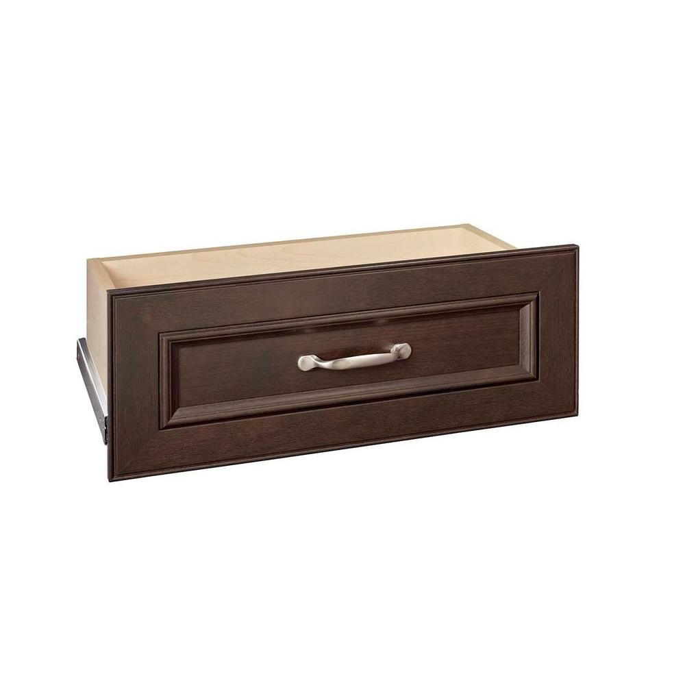 ClosetMaid Impressions 8.7 in. Chocolate Drawer Kit for 25 in. Wide Organizer