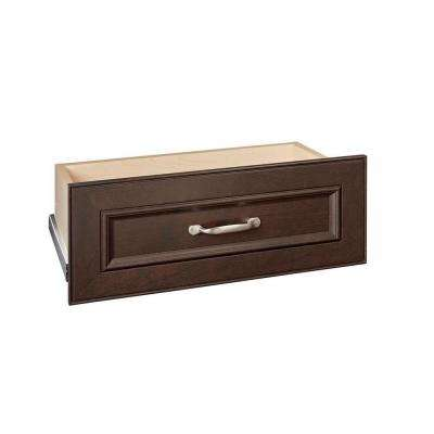 Impressions 25 in. W x 10 in. H Chocolate Standard Drawer Kit