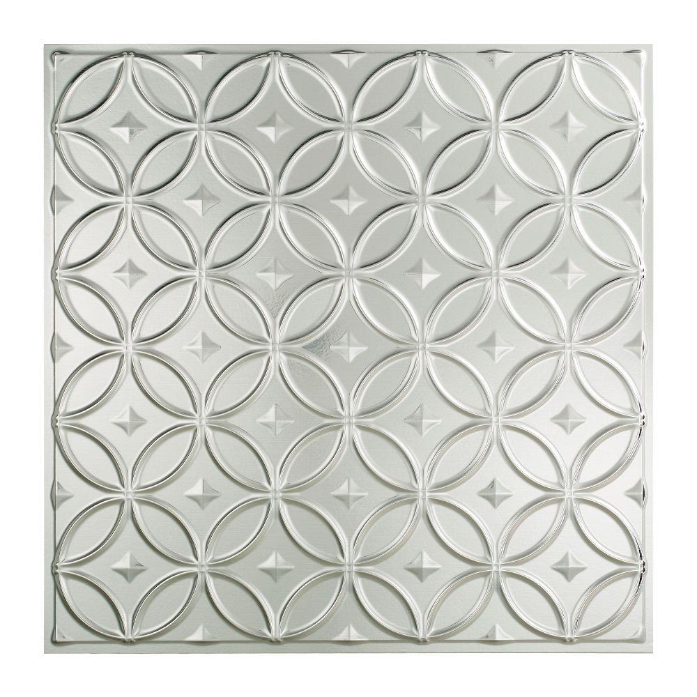 fasade rings - 2 ft. x 2 ft. lay-in ceiling tile in brushed