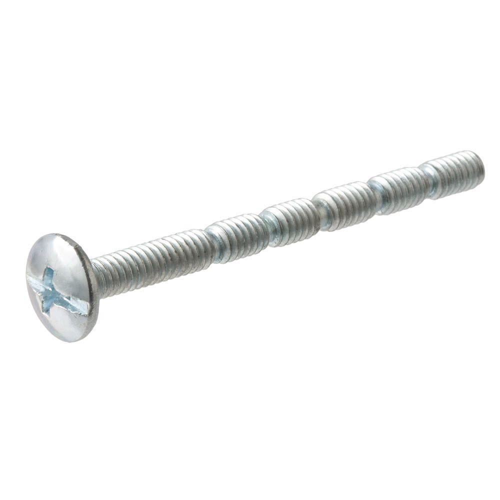Everbilt #8-32 x 2 in. Zinc-Plated Notched Truss-Head Combo Drive Adjustable Drawer Handle Screw (8-Pieces)