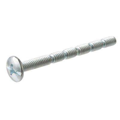 #8-32 x 2 in. Zinc-Plated Notched Truss-Head Combo Drive Adjustable Drawer Handle Screw (8-Pieces)