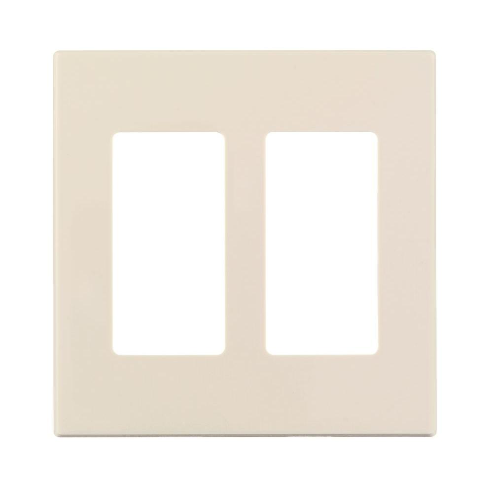 Leviton 2 Gang Screwless Decora Plus Snap On Wall Plate