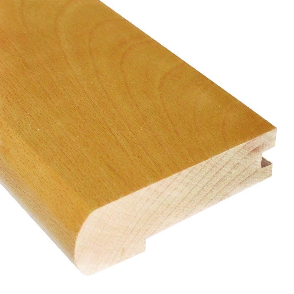 Vintage Maple Latte 0.81 in. Thick x 2-3/4 in. Wide x 78 in. Length Hardwood Flush-Mount Stair Nose Molding