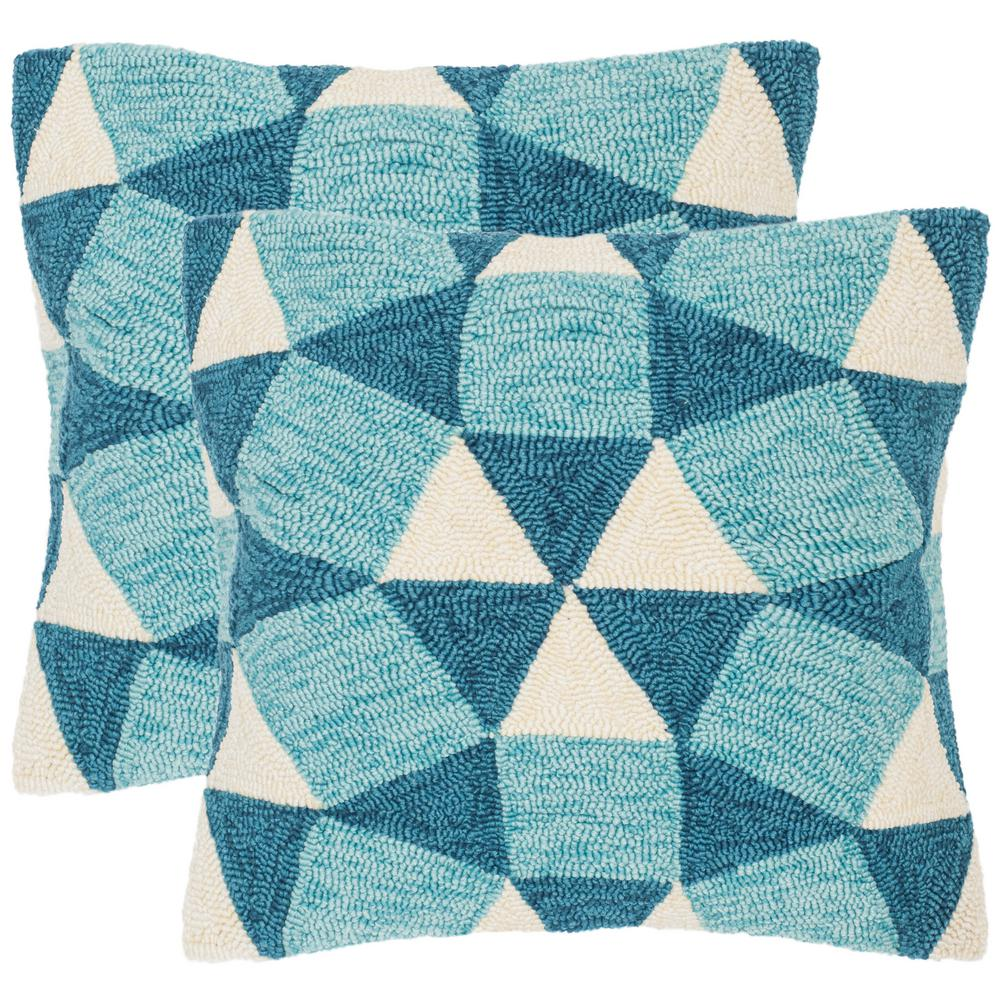 Safavieh Abstract Puzzle Soleil Square Outdoor Throw Pillow Pack Of