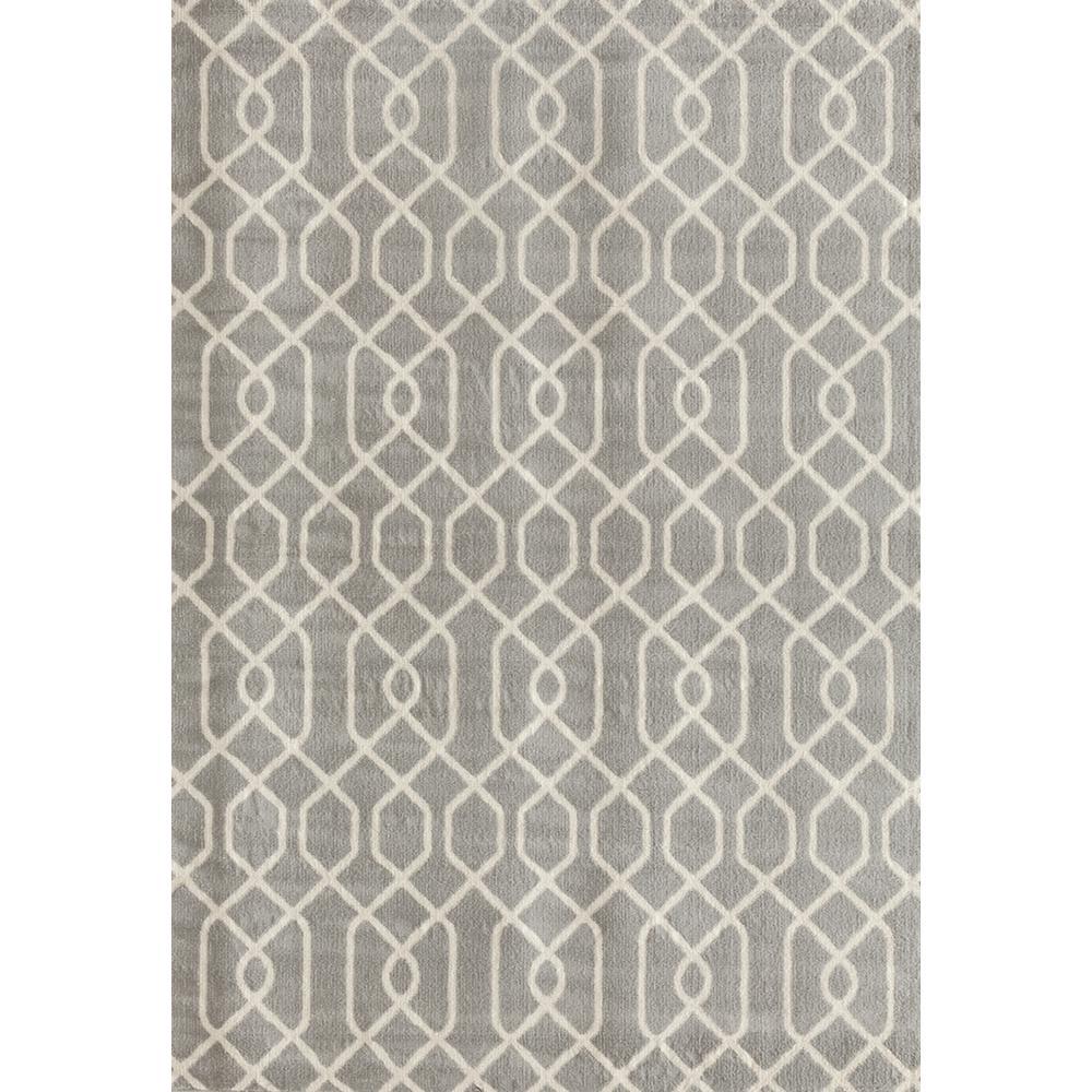 Modern Trellis Pattern Gray 5 ft. x 7 ft. Area Rug