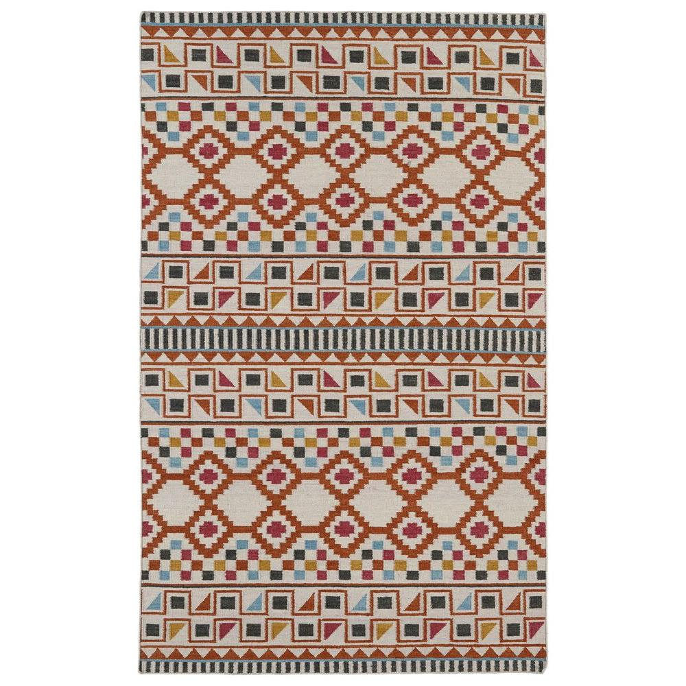 Kaleen Nomad Paprika 3 ft. 6 in. x 5 ft. 6 in. Area Rug
