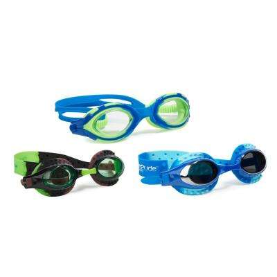 Aqua2ude Boys Sea Creature With Aviator Swim Goggle (3- Pack)