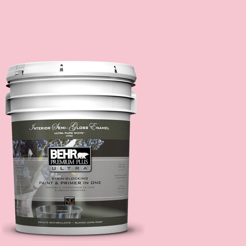 BEHR Premium Plus Ultra 5-gal. #120B-4 Old Fashioned Pink Semi-Gloss Enamel Interior Paint