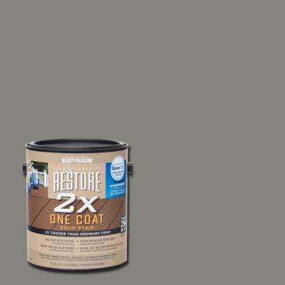 1 gal. 2X Bedrock Solid Deck Stain with NeverWet