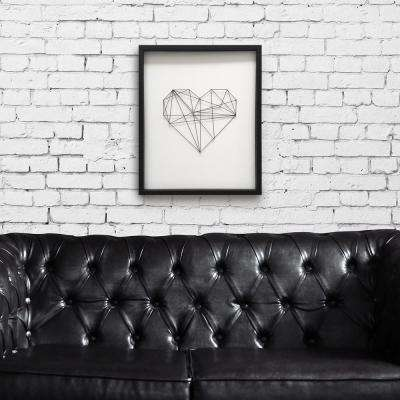 24 in. H x 20 in. W 'Geometric String Heart' by Wynwood Studio Hand Made Framed Wall Art