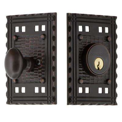 Craftsman Plate 2-3/4 in. Timeless Bronze Backset Single Cylinder Deadbolt