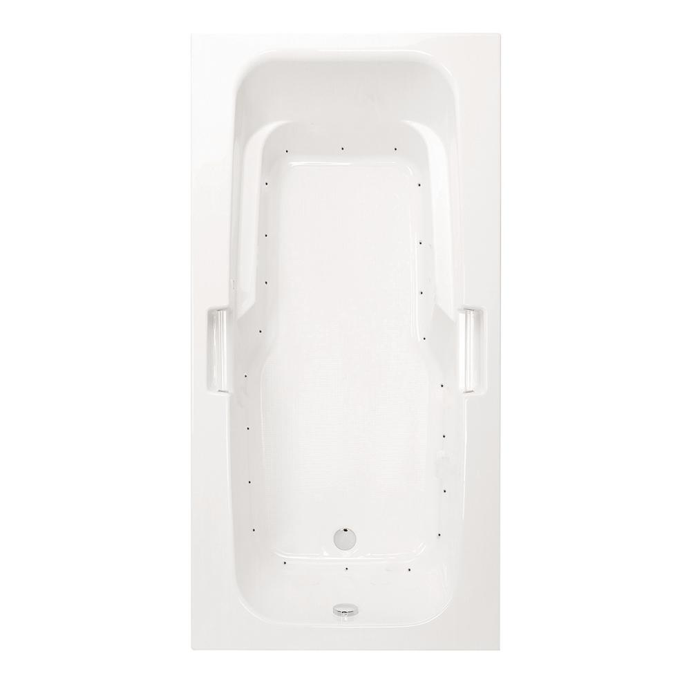 Montrose II 72 in. Acrylic Reversible Drain Rectangular Drop-In Air Bath Tub