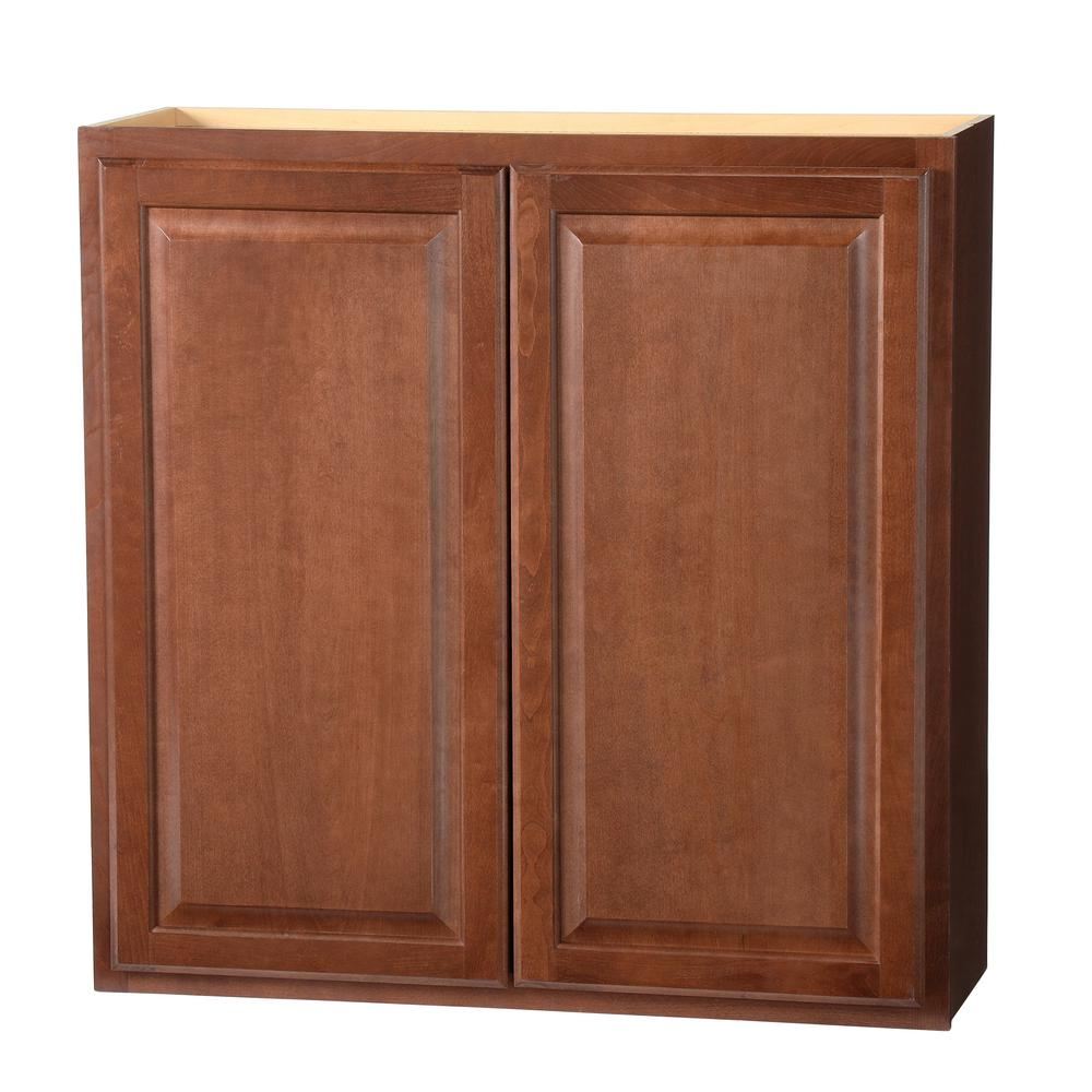 Hampton Bay Hampton Assembled 36x36x12 In Wall Kitchen Cabinet In