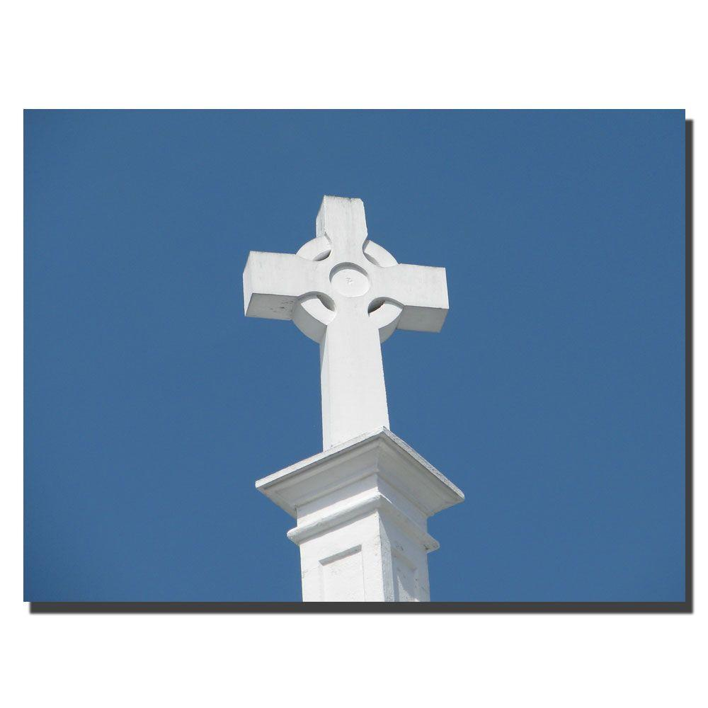 Trademark Fine Art 14 in. x 19 in. Mission Cross Canvas Art-DISCONTINUED