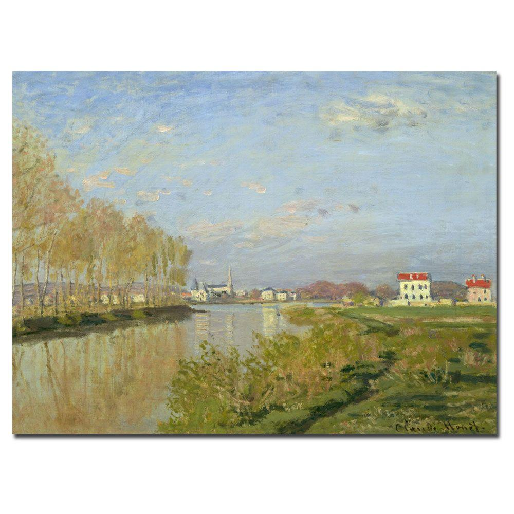 Trademark Fine Art 18 in. x 24 in. The Seine at Argenteuile, 1873 Canvas Art