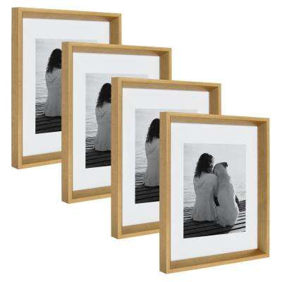 Calter 11 in. x 14 in. Matted to 8 in. x 10 in. Gold Picture Frame (Set of 4)