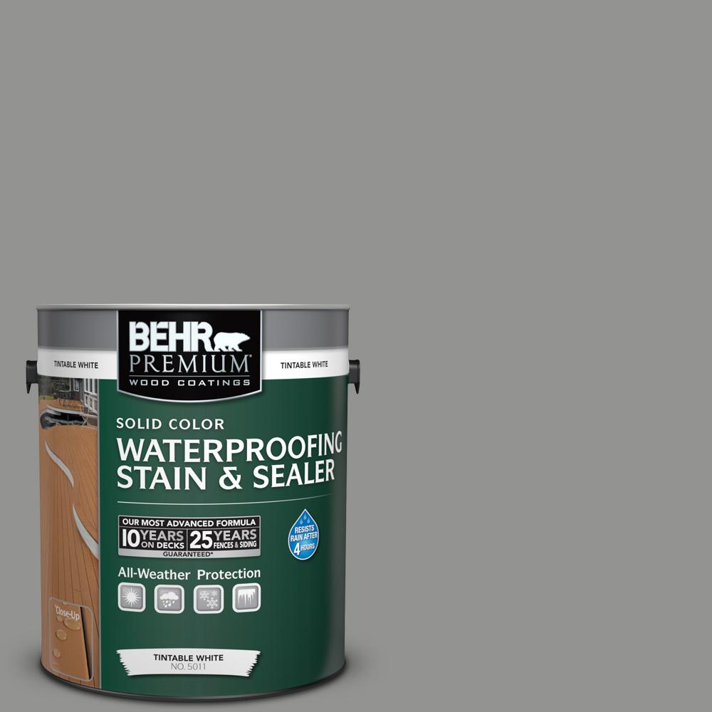 1 gal. #780F-5 Anonymous Solid Color Waterproofing Exterior Wood Stain and