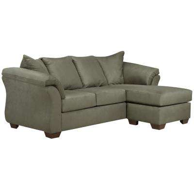 Signature Design By Ashley Darcy Sage Microfiber Sofa Chaise
