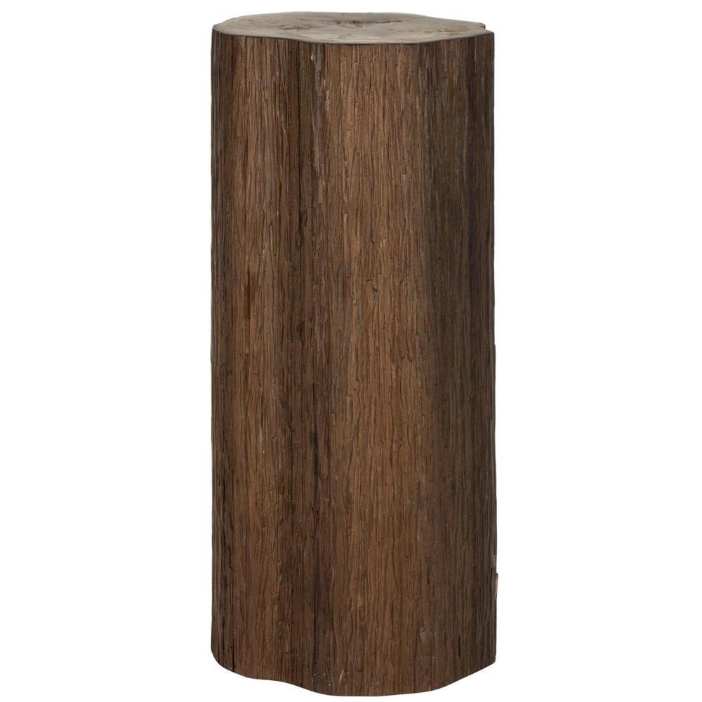 Safavieh Arnel Log Stool End Table in Brown