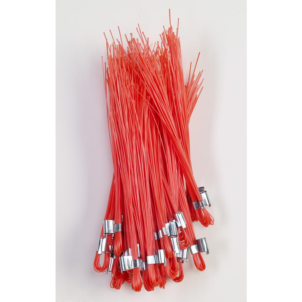Mutual Industries 6 in. Glo-Orange Stake Whiskers (500 per Box)