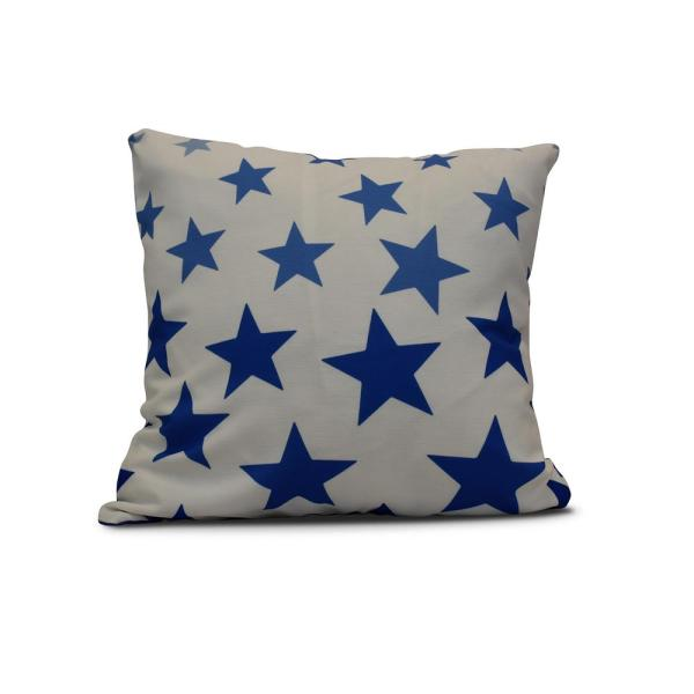 16 in. Just Stars Geometric Print Pillow in Blue PG767B1-16