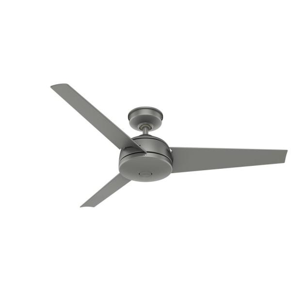 Trimaran 52 in. Indoor/Outdoor Matte Silver Ceiling Fan with Wall Switch