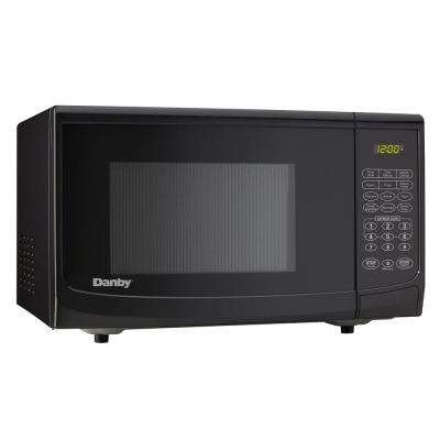 0.7 cu. ft. Countertop Microwave in Black