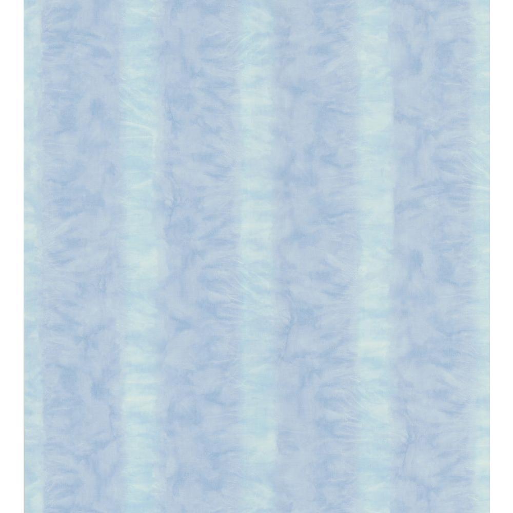 Kitchen and Bath Resource II Blue Wash Stripe Wallpaper Sample