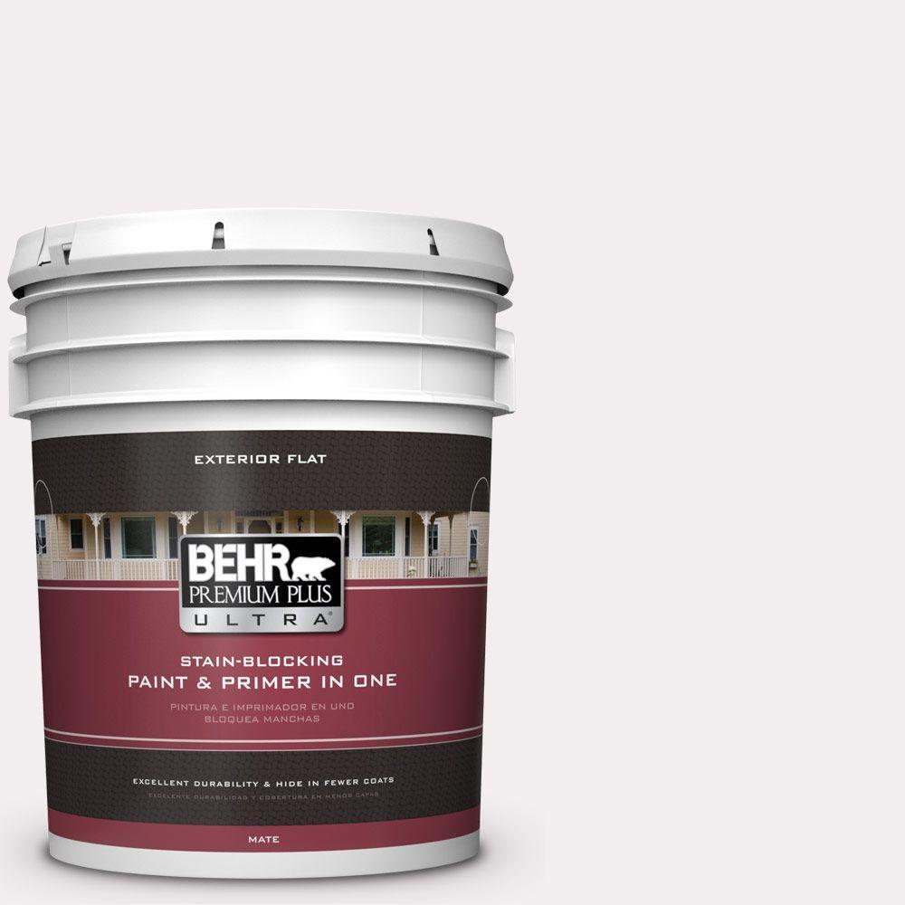 BEHR Premium Plus Ultra 5-gal. #PPL-12 Rose Dawn Flat Exterior Paint