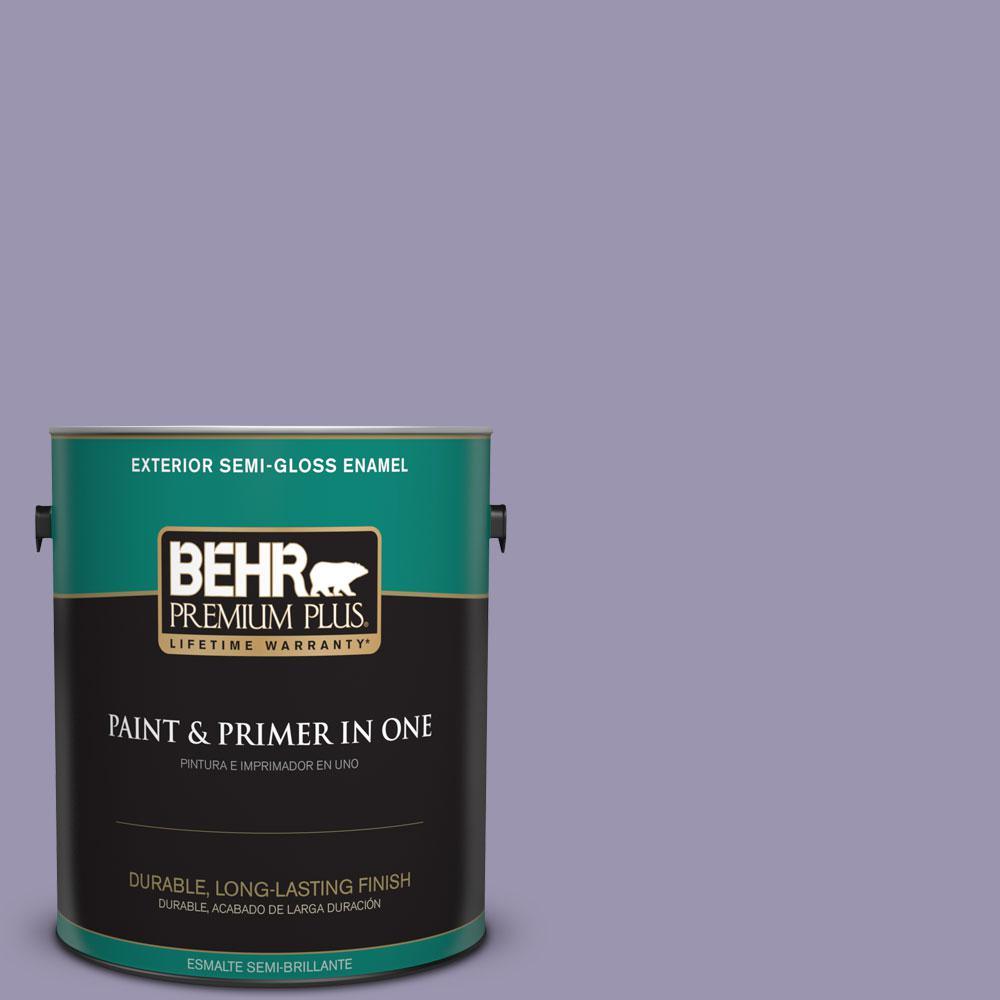 BEHR Premium Plus 1-gal. #S570-4 Night Music Semi-Gloss Enamel Exterior Paint