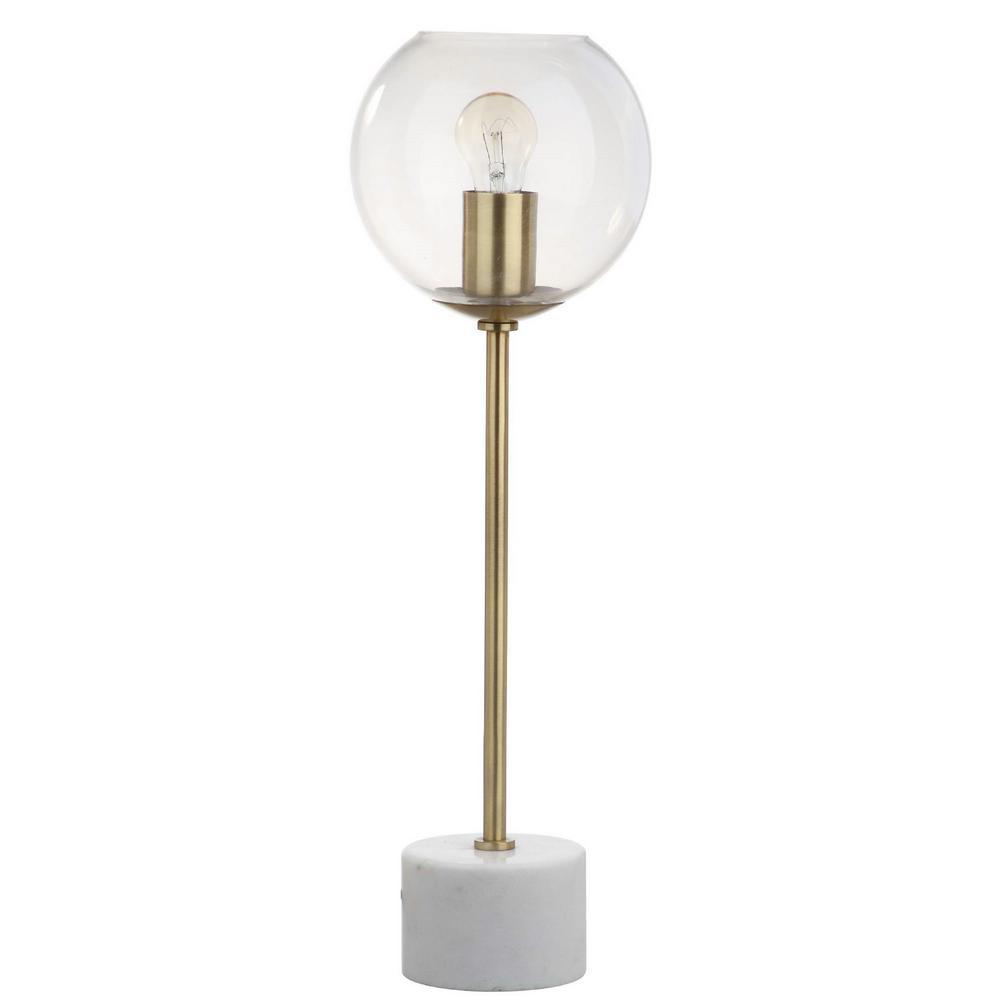 Safavieh Caden 22.25 in. Brass Gold/White Table Lamp