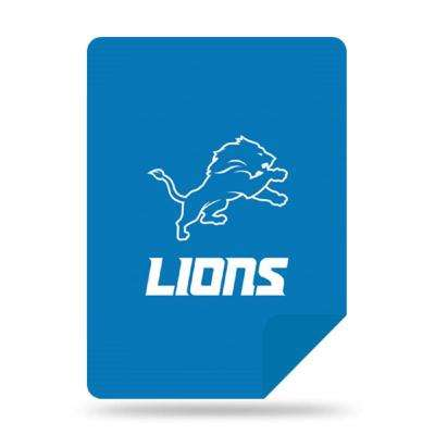 Lions Multi Color Acrylic Sliver Knit Throw