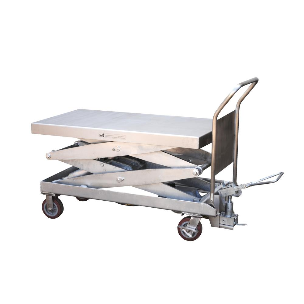 1,750 lb. 24 in. x 47.5 in. Partially Stainless Steel Elevating