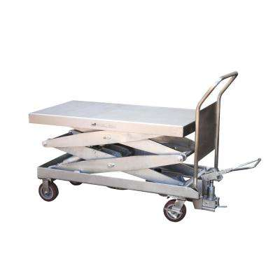 1,750 lb. 24 in. x 47.5 in. Partially Stainless Steel Elevating Cart
