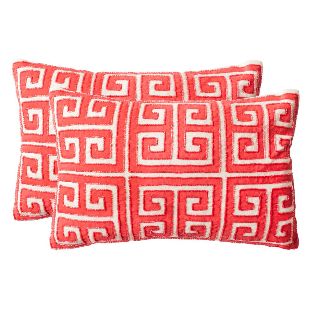 Set of 2 Decorative Pillows Safavieh Scarlet 18 in Green